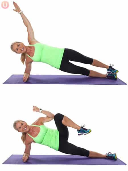 side plank oblique crunch